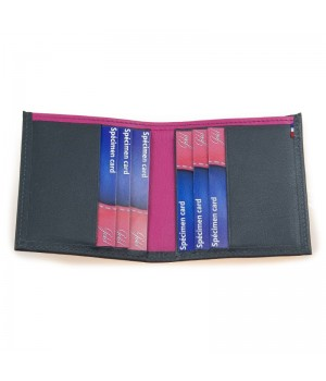 Porte-carte artisanal bicolore gris rose carte paiement billet