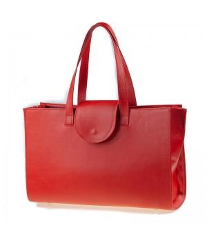 sac à main patte rouge uni artisanal