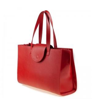 sac à main patte rouge uni artisanal profile