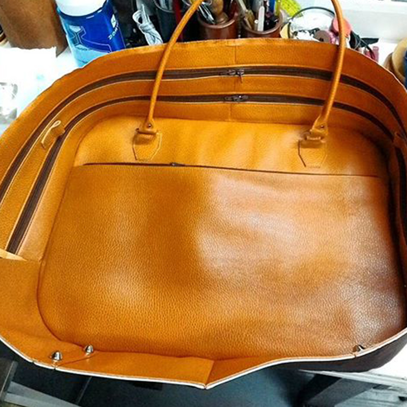sac cuir orange